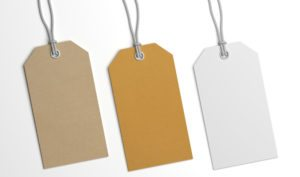 A collection of hang tags
